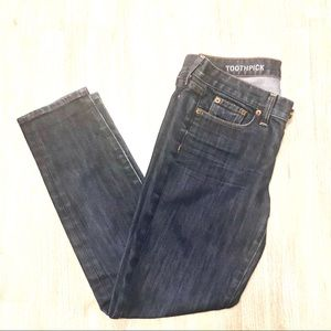 J Crew Toothpick Ankle Jeans.